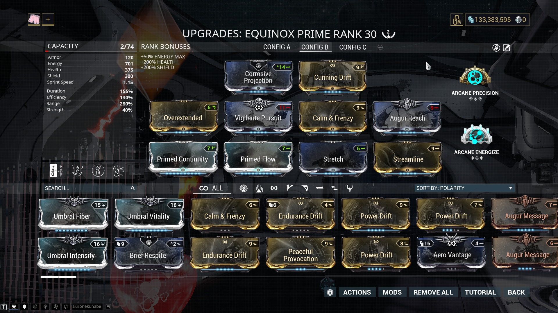 Equinox Prime Build Guide Warframe Guidekeeper So i just finished building nova prime and i want to know whats the best build to use with her new mod molecular fission, also which weapons are good to use with her. equinox prime build guide warframe